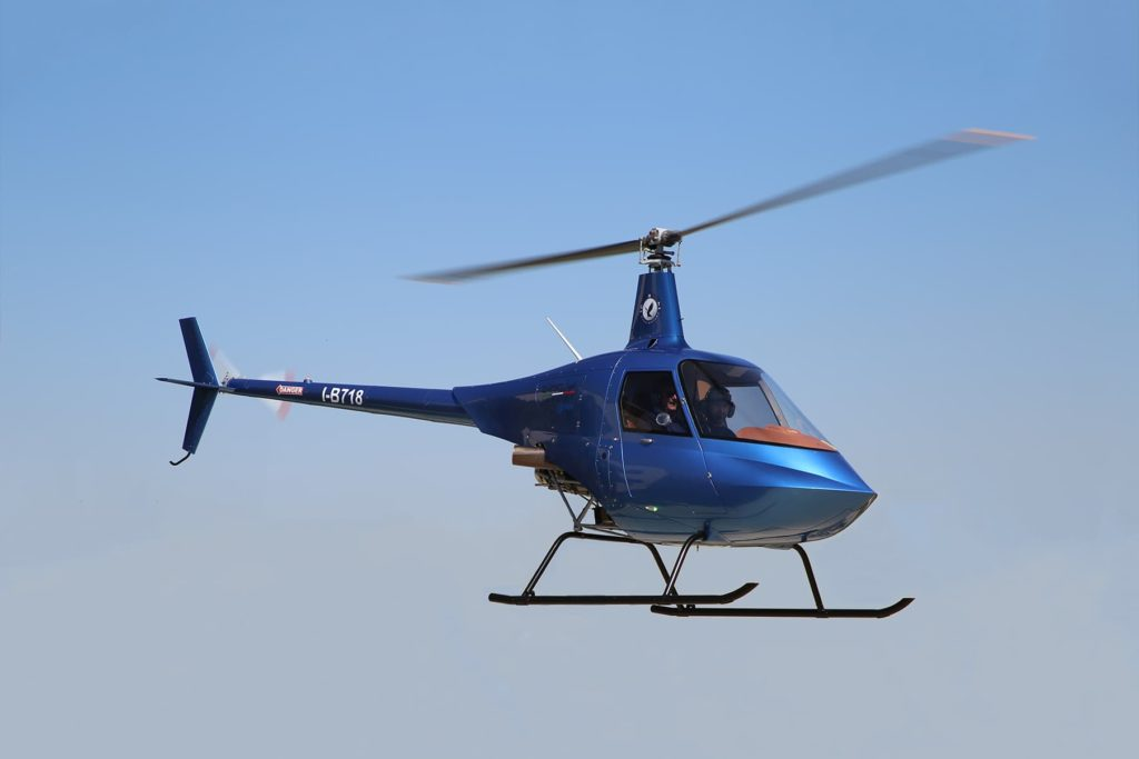 G250 Eagle ultra-light helicopter in flight